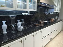 drama and elegance reflected in a black kitchen countertop pertaining to marble countertops design 5