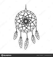 Dream Catcher Outline Dream catcher with feathersHippy single icon in outline style 11