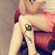 3d Zámek Mého Srdce 3d Dočasné Tetování Body Art Flash Tattoo Samolepka 19 9cm Vodotěsné Henna Tatoo Selfie Fake Tattoo Wall Sticker At Vova