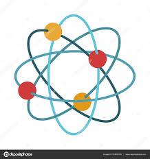 atomdesign isolierten atom design stockvektor grgroupstock 133693126