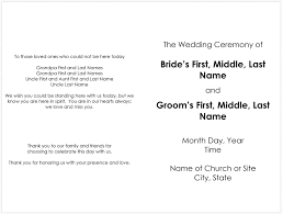 sample wedding ceremony program 37 printable wedding program examples templates template lab