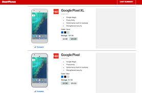 Google Phone Listing Verizon Is Latest To Leak Googles Pixel Phones And They