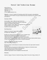 Transform Lab Technician Sample Resume On Sample Emt Resume