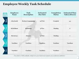 Weekly Task Schedule Employee Weekly Task Schedule Ppt Powerpoint Presentation