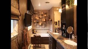 Small Master Bathroom Remodel Idea Dark Ceramic Tile Artistic Small Master Bathroom Designs