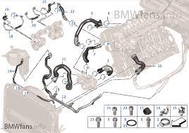 cooling system coolant hoses bmw e i n usa cooling system coolant hoses