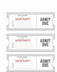 Movie Party Invitation Template Best Of Awesome Admit One Party
