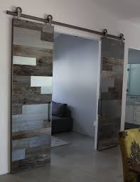 reclaimed door furniture. Contemporary Reclaimed Wood And Satin Steel Barn Doors Reclaimed Door Furniture