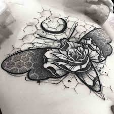 Rose Moth Tattoo Dotwork Tattoo Style татуировки тату и идеи