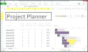Project Planning Excel Template Free Download Gantt Chart Excel Template Free Xls In Project Schedule Plan
