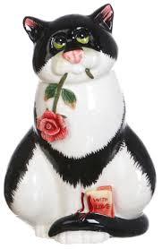 Статуэтка <b>Lefard Кошка</b> с цветком 59-186 Белый, черный купить ...