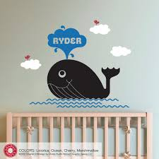 whale nursery wall decor whale nursery wall decal ocean decor kids personalized name on personalized wall decor for nursery with whale nursery wall decal ocean decor kids personalized name whale