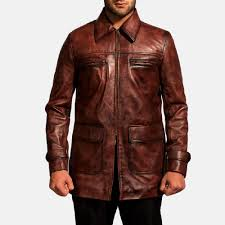 home leather jackets tuba distressed brown leather jacket