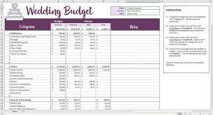 Easy Wedding Budget Excel Template Ndash Savvy Spreadsheets