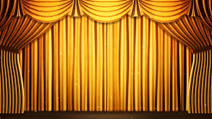 green stage curtain on blue chroma key 3d render animation stock