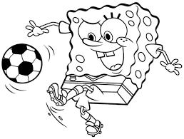 Disegno Di Spongebob Calciatore Da Colorare