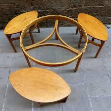 round glass nesting coffee table vintage mementosbcn 7