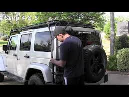 off road unlimited roof racks gobi roof rack install and hard top lift youtube jeep