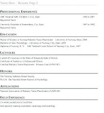 Nurse Practitioner Resume Samples Nursing Resume Examples New Grad ...