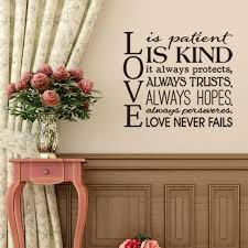 Home Decoration Accessories Wall Art Unique Love Is Patient Kind Quotes Wall Art Sticker DIY Home Decoration