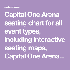 Capital Arena Seating Chart Capital One Arena Seating Chart For All Event Types