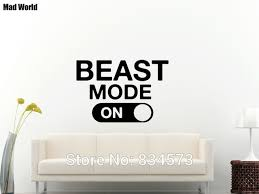 mad world beast mode fitness gym motivational wall art stickers wall decal home diy decoration on motivational wall art for home with mad world beast mode fitness gym motivational wall art stickers wall