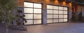 the modern look of glass garage doors