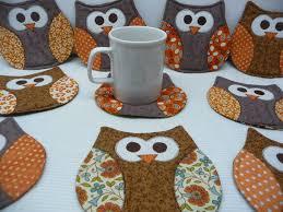 owl mug rug owl coaster mug rug coasters mug rugs owls