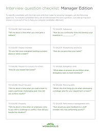 Questions To Ask When Interviewing 10 Interview Questions To Ask Every Manager Candidate Workopolis
