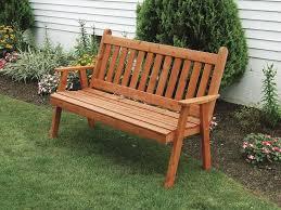 amish cedar wood traditional english garden bench cedar bench plans