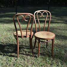 vintage thonet bentwood bistro chairs cane seat by panchosporch