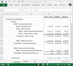 excel income statement pull budget values into an income statement excel university