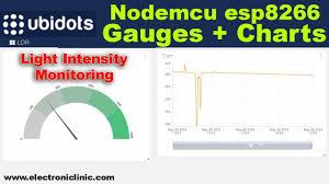 Ubidots Nodemcu Light Intensity Monitoring Using Gauges And