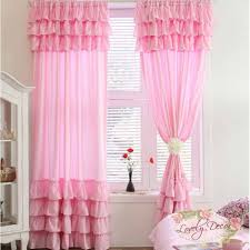 Pink Curtains For Girls Bedroom Pink Ruffle Curtains For Girls Room