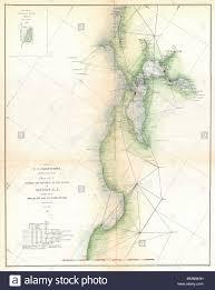 English A Rare Nautical Triangulation Chart Of The