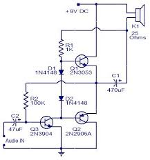 three transistor audio amplifier electronic circuits and diagram three transistor audio amplifier circuit