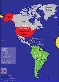 continent of america map.  Continent Map Of Americas Highlighting Continents And Countries For Continent Of America A