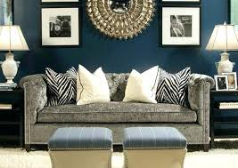 grey couch living room ideas luxurious velvet with navy blue wall color for contemporary gray blue grey sofa