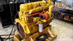 new caterpillar c12 engine running