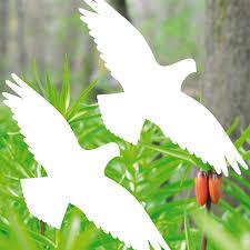 2 Aufkleber 20cm Weiß Vogel Fenster Tattoo Warnvögel Vogelschutz