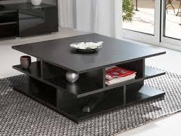 Table basse bois noir table basse noir en verre | Amoretti decoration