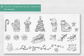 Doodle Christmas Vector Collection Graphic By Tatyana Zenartist Creative Fabrica