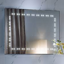 Bathroom Heated Mirrors Interior Bathroom Mirror With Led Lights Vintage Refrigerator