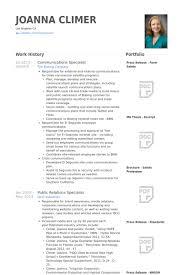 Communications Specialist Resume Samples Visualcv Resume Samples
