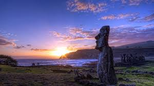 sunsets rapa nui sunset wall easter islands hills moais rapa nui sunset wall easter islands hills moais island sky statues beautiful clouds cliff enigma sea beach photos 1920x1080