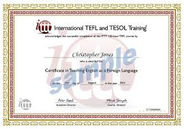 Certificate Sample 24hour TEFL Certificate Sample 1