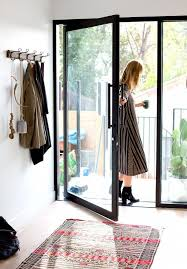 modern framed glass front door