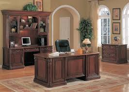 wood office desk furniture. Exellent Desk Brilliant Traditional Executive Desk Cherry Solid Wood  Office Furniture New Throughout I
