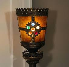 floor lamps rembrandt gothic knights floor lamp w jeweled mica crown shade mica shade floor