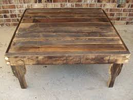 ... Coffee Table, Amazing Brown Wood Rustic Square Coffee Table Design  Ideas: Brilliant Rustic Square ...